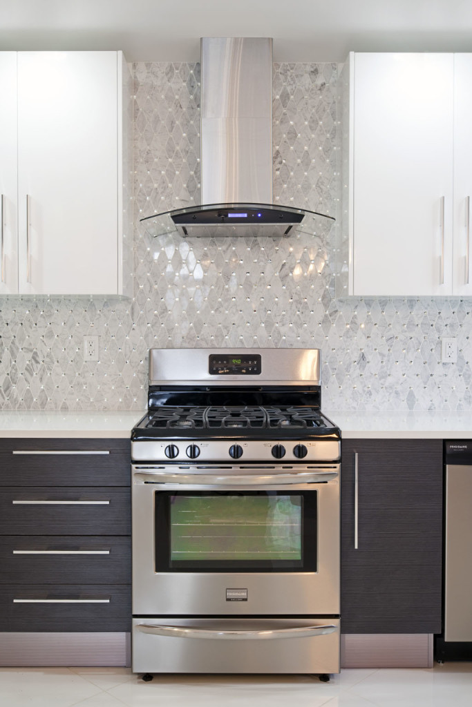 oven and hood as a focal point for kitchen