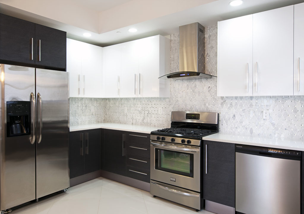 u-shape kitchen cabinets